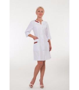 Медицинский женский халат с вышивкой 2173