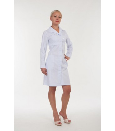 Медицинский женский халат с длинным рукавом 3130