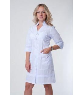 Медицинский женский халат 4131 воротник-стойка