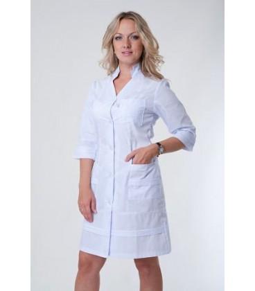 Медицинский женский халат воротник-стойка Х-2131