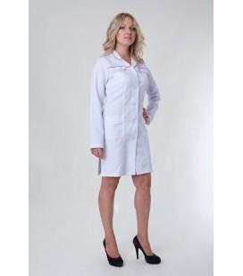 Медицинский женский халат с длинным рукавом Х-1122
