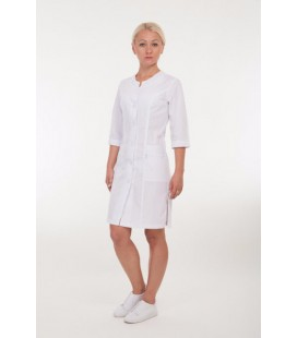 Медицинский женский халат 4174 с белой вышивкой
