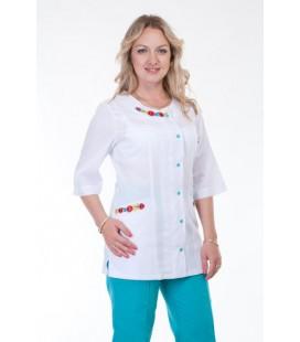 Медицинский костюм 4263 с вышивкой