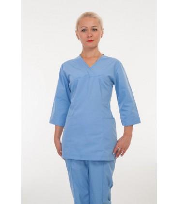 Медицинский женский костюм голубой 2219