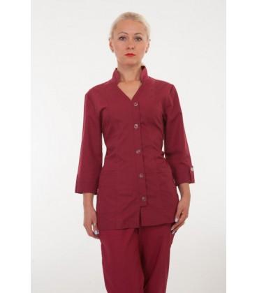 Медицинский женский костюм бордовый 2211