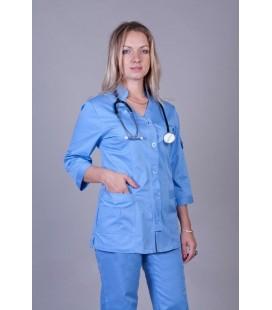 Медицинский женский костюм синий К-3207