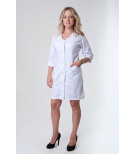 Женский медицинский халат 4118 белый
