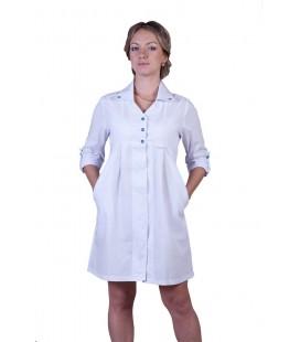 Медицинский халат с завышенной талией Х-2117