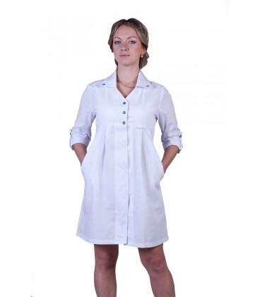 Оригинальный женский медицинский халат с завышенной талией Х-2117