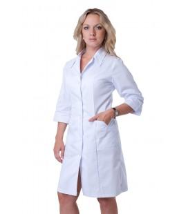Медицинский женский халат белый 5108