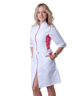 женский медицинский халат на замке х-2136