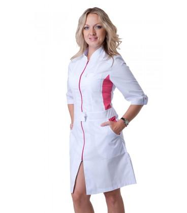 Красивый женский медицинский халат с вставками Х-2136