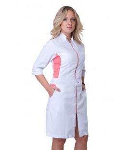 Красивый женский медицинский халат с вставками Х-2137