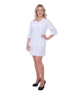 Женский медицинский халат 4158 со вставками