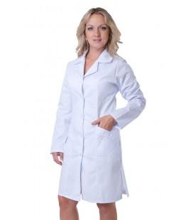 Женский медицинский халат 5103 с длинным рукавом