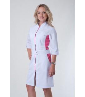 Батистовый женский медицинский халат с вставками Х-3113