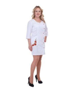 Медицинский женский халат 5126 с вышивкой