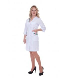 Медицинский женский халат 4161 с вышивкой