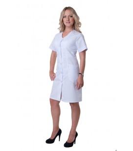 Женский медицинский халат 4138 с коротким рукавом