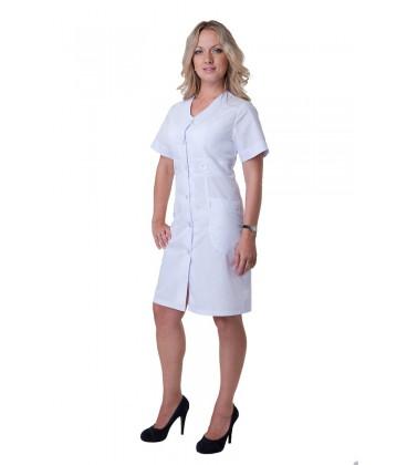Женский медицинский халат с коротким рукавом Х-2138