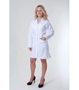 Медицинский женский халат 1124 с длинным рукавом