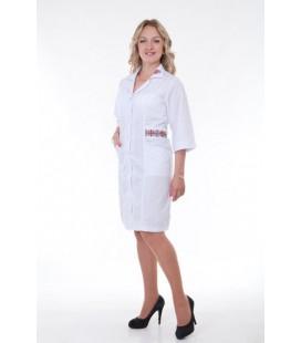 медицинский халат с вышивкой Х-3122