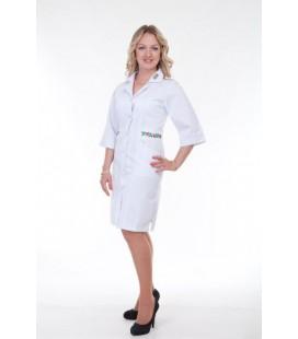 Медицинский женский халат с вышивкой-орнамент Х-3124
