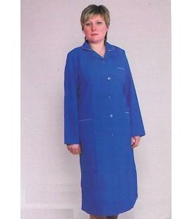 медицинский женский халат с длинным рукавом Х-1115 синий