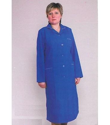 Синий медицинский женский халат с длинным рукавом Х-1115