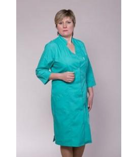 Медицинский женский халат 4115 бирюзовый