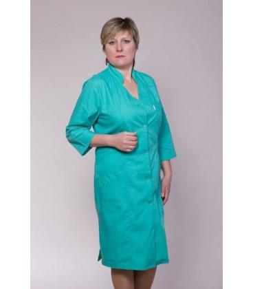 Бирюзовый медицинский женский халат 2115