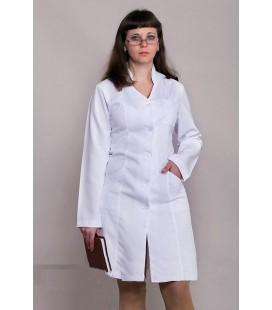 Медицинский женский халат с длинным рукавом М-1106