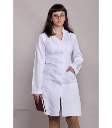Медицинский женский халат с длинным рукавом 1106