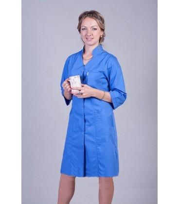 Сиреневый медицинский женский халат 2121