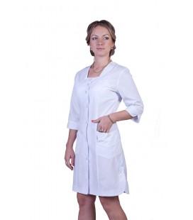 Медицинский женский халат 4119 с разрезами