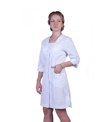 Медицинский женский халат белый 2119