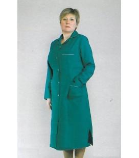 медицинский женский халат больших размеров 1114 зелёный
