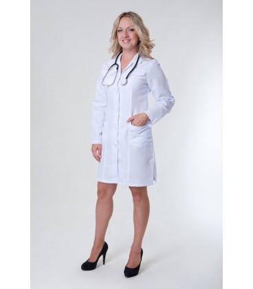 Недорогой медицинский женский халат с длинным рукавом Х-1123