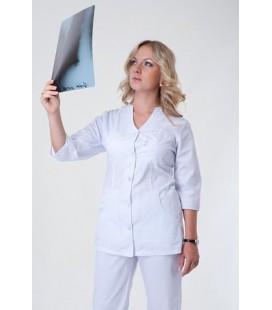 Медицинский женский костюм белый К-2242