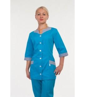 Красивый медицинский женский костюм ( синий ) 3231