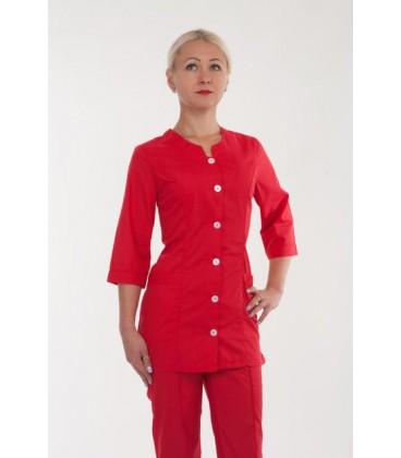 Медицинский женский костюм красный 2286