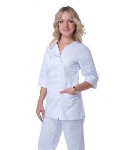 Медицинский женский костюм 5222 белый
