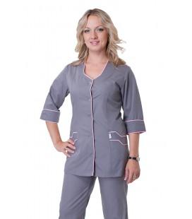 Медицинский женский костюм 4223 серый