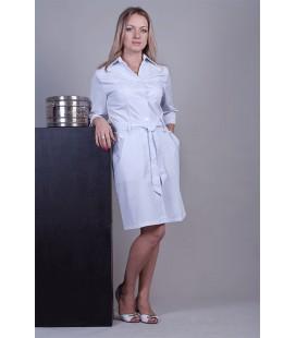 Медицинский халат 5109 с поясом