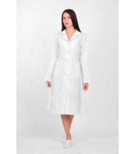 медицинский женский халат 0014 Анна белый