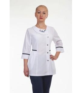 Медицинский костюм 4295 с вышивкой
