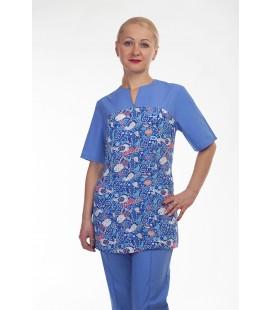 Медицинский костюм 4297 голубой