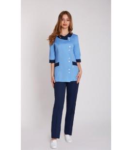 Медицинский костюм 0055 Венеция голубой коттон