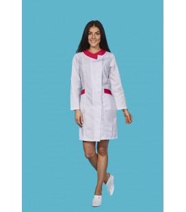 Медицинский халат 0035-2 Венеция со вставками