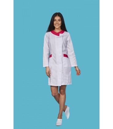 медицинский халат 0035-2 Венеция с цветными вставками